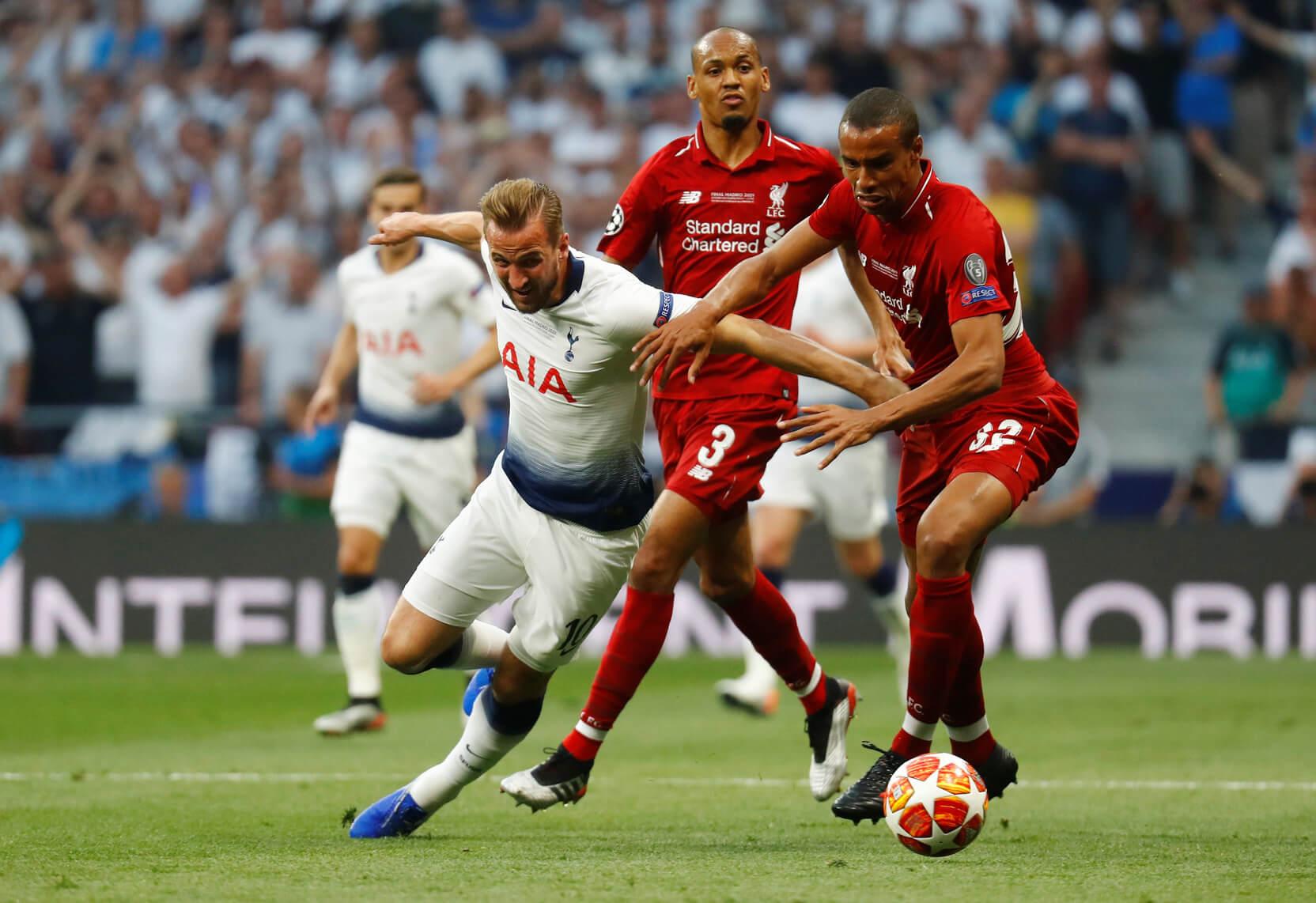 Harry Kane, Fabinho, Joel Matip, Liverpool og Tottenham, England