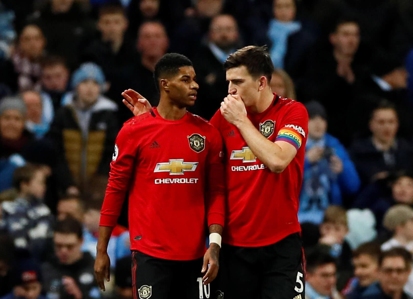 Marcus Rashford og Harry Maguire, Manchester United, England