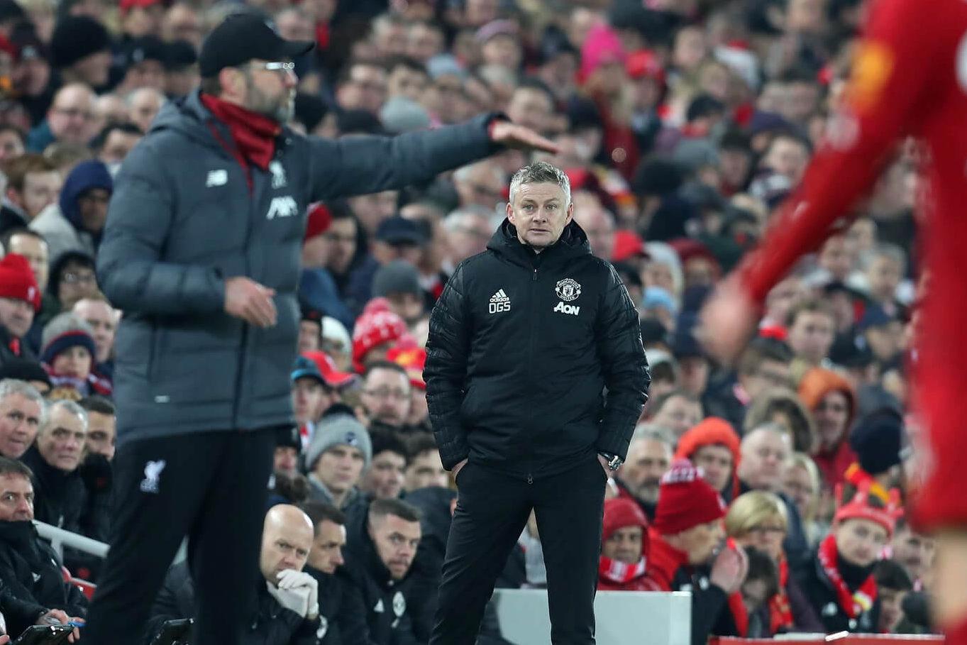 Jürgen Klopp og Ole Gunnar Solskjær, Liverpool og Manchester United, England